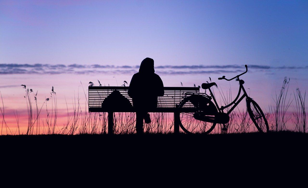 sunset, silhouette, twilight